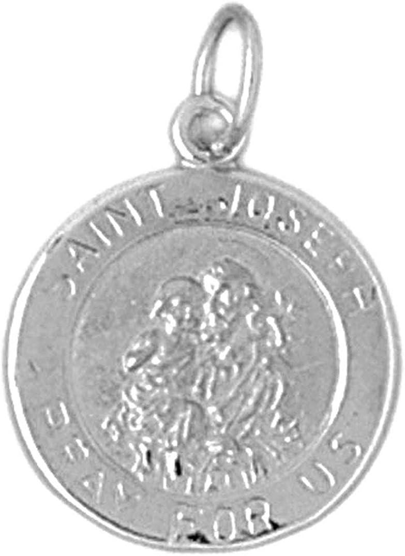 Joseph Pendant 21 mm Jewels Obsession St Sterling Silver 925 St Joseph Pendant
