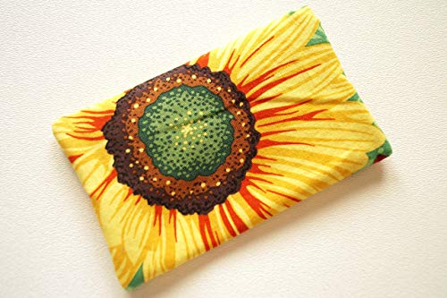 Fabric Travel Size Tissue Holder with Sunflower Pattern