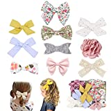 Fancy Clouds Girls Hair Bows flowers clips Barrettes,Lined Alligator,Hair Accessories for Baby Toddler