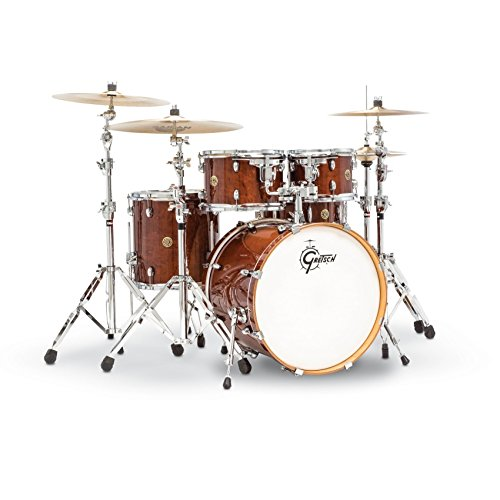 Gretsch Drums Catalina Maple CM1-E605-WG 5-Piece Drum Shell Pack, Walnut Glaze