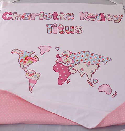 Personalized map of the world baby blanket displaying babys name save gumiabroncs Image collections