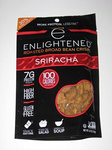 ENLIGHTENED BROAD BEAN (FAVA BEANS) CRISPS 2-4.5 oz BAGS (SRIRACHA)