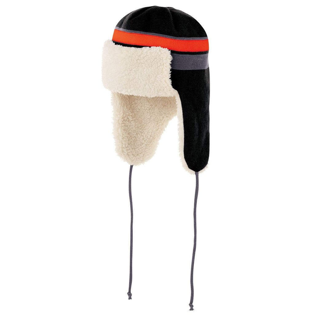Holloway Comeback Trapper Beanie (One Size Fits Most, Black/Orange/Graphite) by Holloway
