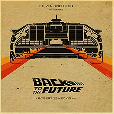 zxddzl Back to The Future Retro Poster Print Mural Cartel ...