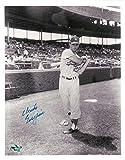 Chuck Essegian Signed Photo - 8X10 Vintage LA Dodgers Pose Bat COA - Autographed MLB Photos