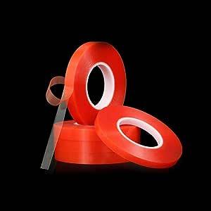 3 بكرة لاصق دبل فيس شفاف ( طول 5متر ) عرض 1 سم