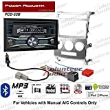 Volunteer Audio Power Acoustik PCD-52B Double Din Radio Install Kit with Bluetooth, CD Player, USB/AUX Fits 2007-2012 Hyundai Veracruz (Manual A/C Controls)