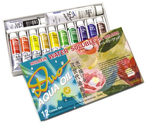 (Holbein Duo Aqua Water-Soluble Oil Color AP Set of 12 20 ml Tubes)