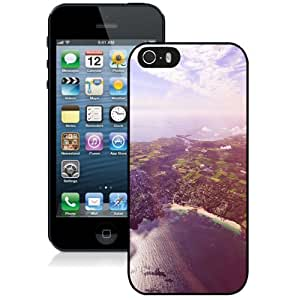 NEW Unique Custom Designed iPhone 5S Phone Case With Sunny Day Over Port City_Black Phone Case