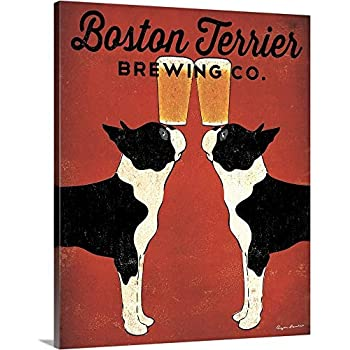 Boston Terrier Brewing Co Canvas Wall Art Print, 16