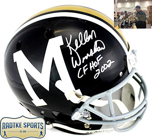 Kellen Winslow Autographed/Signed Missouri Tigers Throwback NCAA Schutt Full Size Helmet with