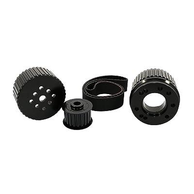 Assault Racing Products 2256KIT-BK for Big Block Ford Black Billet Aluminum Gilmer Belt Drive Pulley Kit BBF 429 460: Automotive