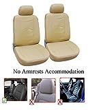 OPT Brand. Vinyl Leather 2 Front Car Auto Seat Covers Hyundai ACCENT AZERA SONATA SONATA HYBRID SONATA PLUG-IN TUCSON TUCSON FUEL CELL. Tan Color. 771510-T