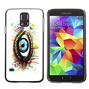 GagaDesign Phone Accessories: Hard Case Cover for Samsung Galaxy S5 - Painted Eye