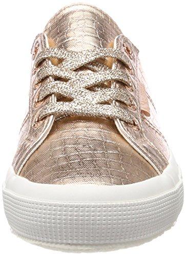 Superga Damen 2750 Cotmetembossedcoccow Sneaker Pink (Rose Gold)