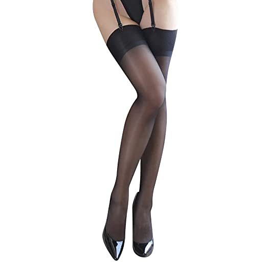 e8f8a55ac 856store Comfortable Sheer Women Sexy See Through Non-Stretch Thigh High  Socks Clubwear Stockings -