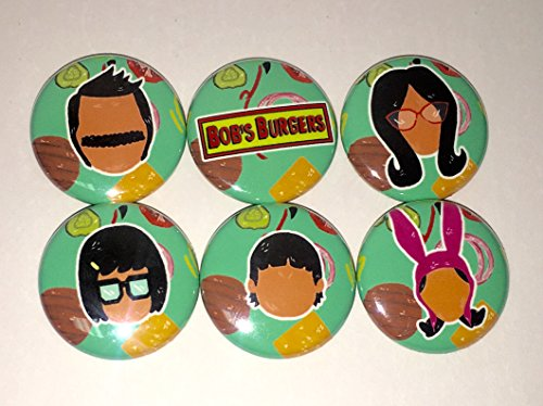 (BOB'S BURGERS BUTTON SET - (6 PACK) 1
