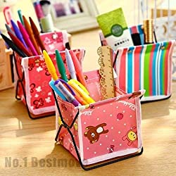 New Folding Desk Organizer Pen Pencil Holder Stationery Makeup Cosmetic Storage