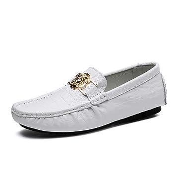 Mocasines/Mocasines y Slip-Ons para Hombre 2018 Zapatos Lazy de Primavera/otoño Zapatos/Zapatos de conducción para Hombre Daily/Office (Color : Blanco, ...