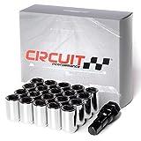 Circuit Performance Tuner Key Acorn Lug Nuts Chrome 12x1.25 Forged Steel (20pc + Tool)