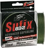 Sufix 832 Braid Line-600 Yards (Green, 30-Pound), Outdoor Stuffs