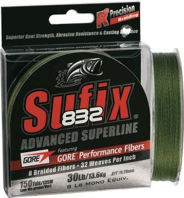 Sufix 832 Braid Line-600 Yards (Green, 30-Pound), Outdoor Stuffs