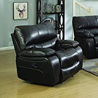 Coaster Home Furnishings Coaster 601933 Glider Recliner, Two-Tone Dark Brown, Willemse Motion Collection
