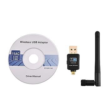 Mugast Tarjeta de Red Inalámbrica WiFi 5GHz a 433Mbps para ...