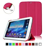Fintie Ultra Slim Lightweight Smart Shell Standing Case with Auto Sleep/Wake Feature for Samsung Galaxy Note 8.0 inch Tablet GT-N5100 / N5110 - Magenta