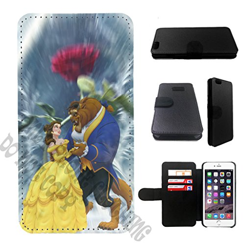 Beauty and the Beast Iphone 7 wallet leather case, iphone 7 wallet case, iphone 7 plus flip case, black