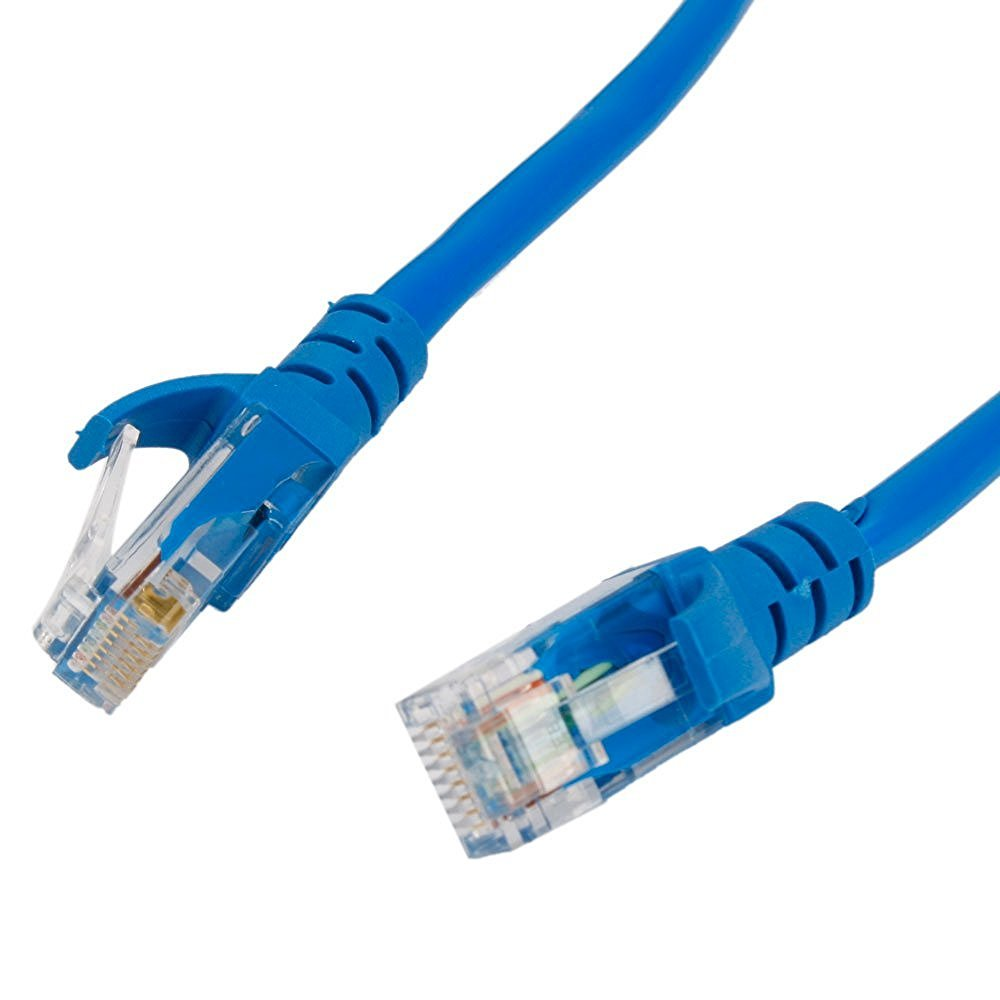 Rts High Speed Cat5 Ethernet Patch Cord Rj45 Lan Straight Network Through Cable Category 5e 20 Meter 65 Foot Blue Computers Accessories
