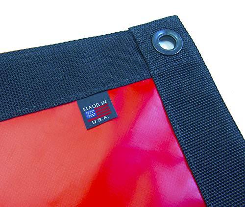 Tarp, Heavy Duty, Black 4' X 8' Feet Waterproof, 18 Oz. Vinyl w/Reinforced Edges (4' X 8' Feet, Black) (Polyester Black 18 Oz Vinyl)
