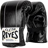Cleto Reyes Leather Boxing Bag Gloves - Black