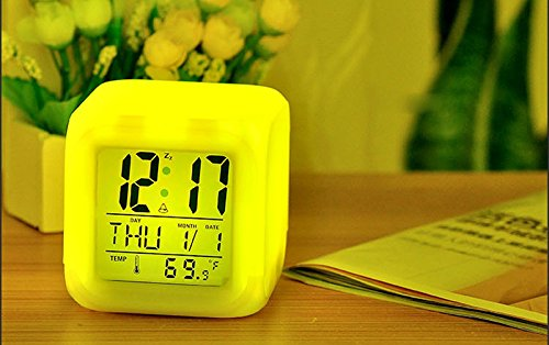 Zorvo Digital Alarm Thermometer Night Glowing Cube 7