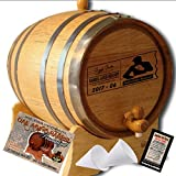 Personalized American Oak Aging Barrel''MADE BY'' American Oak Barrel - Design 077: Dad's Poker Reserve - Master Distiller Series (1 Liter)