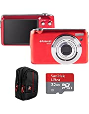 $59 » Polaroid I20X29-RED-STK-4 iEX29 18MP 10x Optical Zoom Digital Camera with HD Movie Recording (Red) Bundle with Sandisk 32GB microSDHC Memory Card and Deco Gear Camera Case (Black/Red)