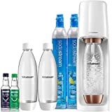 SodaStream Fizzi Sparkling Water Maker Bundle (Rose Gold), with CO2, BPA free Bottles, and bubly drops Flavors