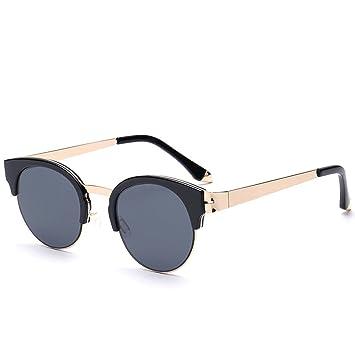 Mode Halbrahmen Metall Sonnenbrille Mann-Sonnenbrille Frau,C4