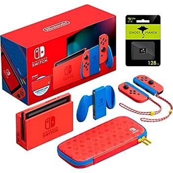 Nintendo Change Mario Crimson & Blue Version Console Pleasure-Con, 6.2'' Touchscreen LCD Show, 1920×1080 Decision, 32GB Inside Storage, WiFi, HDMI, Bluetooth, W/128GB MicroSD Card