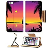 Luxlady Incitement Apple iPhone 6 Plus iPhone 6S Plus Flip Pu Leather Wallet Case IMAGE ID 4960819 Tropical sea because of with sailboat