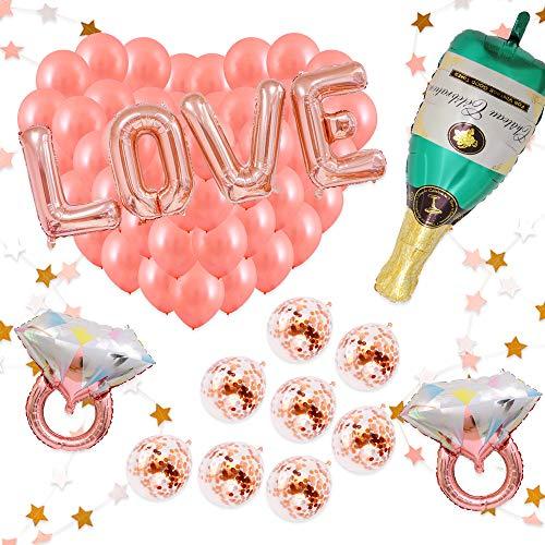 BALONAR 30inch Rose Gold Love Letter Foil Balloon