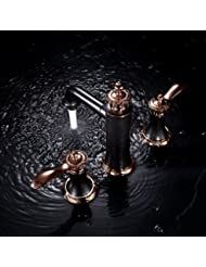 Furesnts Modern Home Kitchen And Bathroom Faucet European Style Antique Brass Chrome Plated Single Hot And Cold Mixer Basin Taps Standard G 1 2 Universal Hose Ports