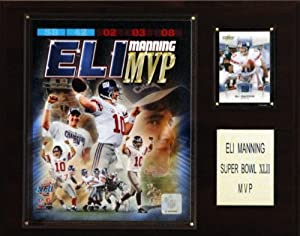 NFL Eli Manning Super Bowl XLII MVP New York Giants Player Plaque