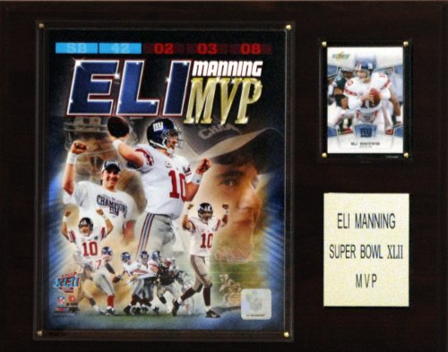 New York Giants Player - NFL Eli Manning Super Bowl XLII MVP New York Giants Player Plaque