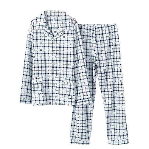 Pezzi Maniche Cotone Homewear Autunno Uomo Primavera Pigiameria Chemise Photocolor Inverno Bathing Pigiama Loungewear Due Lunghe A 7nqvaXgqwx