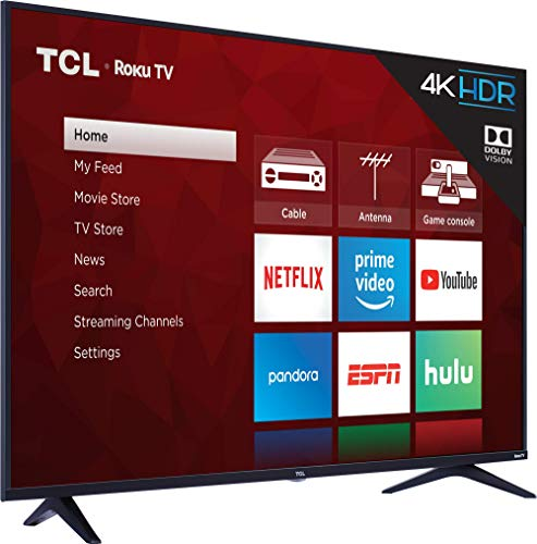 TCL 55S517 55-Inch 4K Ultra HD Roku Smart LED TV (2018 Model)