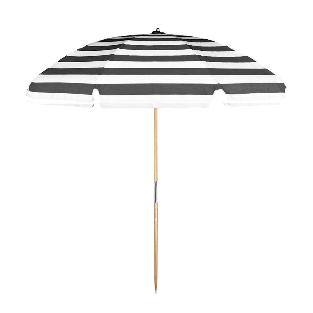 7.5 ft. Avalon Collection Fiberglass Commercial Grade Beach Umbrella with Ash Wood Pole & Acrylic Fabric