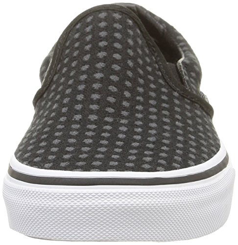 Negro Adulto Classic Dots Noir Zapatilla True Baja Unisex White on Black Slip Vans Wool nqYdUaRW0w