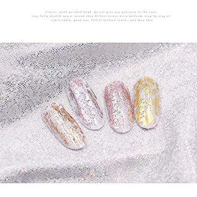 Green Laser - Laser Matte Rose Gold Transfer Foils Decorations Art Polish Wraps Decals Diy Beauty Stickers Accessories 4100cm