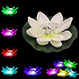 LOGUIDE Frog LED Lotus Light Waterproof Firefly Trendy Hip Unique Color-changing Flower Night Lamp Garden house Lights for Pool Party Fancy Ideal Novel Creative Gift Christmas (Frog)